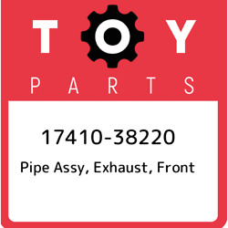 17410-38220 Toyota Pipe Assy Exhaust Front 1741038220 New Genuine Oem Part