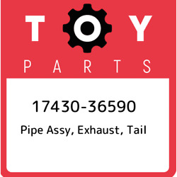 17430-36590 Toyota Pipe Assy Exhaust Tail 1743036590 New Genuine Oem Part