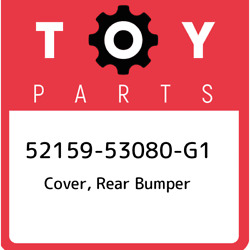 52159-53080-g1 Toyota Cover Rear Bumper 5215953080g1 New Genuine Oem Part