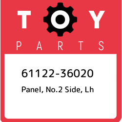 61122-36020 Toyota Panel no.2 side lh 6112236020 New Genuine OEM Part