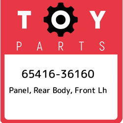 65416-36160 Toyota Panel Rear Body Front Lh 6541636160 New Genuine Oem Part