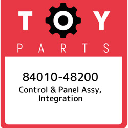 84010-48200 Toyota Control And Panel Assy, Integration 8401048200, New Genuine Oem