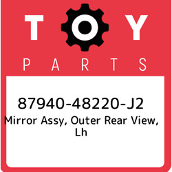 87940-48220-j2 Toyota Mirror Assy Outer Rear View Lh 8794048220j2 New Genuine