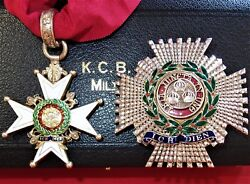 *MILITARY GRADE KCB ORDER OF THE BATH NECK BADGE & BREAST STAR IN CASE MEDAL
