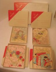 4 Rare Valentines Day Card Wooden Jigsaw Puzzle Grams In Fao Schwarz Mail Boxes