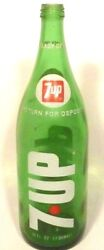 Vintage Acl Soda Bottle 7-up - Returnable 32 Oz - Various Ohio And Pa Locations