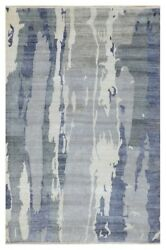 8and039 X 10and039 Modern Handmade Rug Artwork Which Takes Liberties Perfect Gift For You