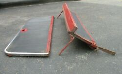 Original 1950-1951-ford And Merc. Woodie-second Seat Frames-nice Stainless Trim