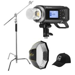 Flashpoint Xplor 400pro R2 Ttl Monolight Kit With Glow 36 Octa And C-stand