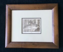 Randall Davey Nude Original Etching Santa Fe Nm Ten Etching Made In New Mexco