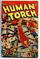Human Torch 14-1943-alex Schomburg Wwii Cover-timely Comic Book