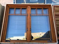 """Window Arts And Crafts Style Window In Frame Tempered Glass 60"""" X 48 1/2"""