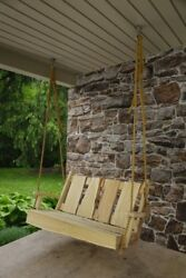 Aandl Furniture Co. Blue Mountain Porch Swings - 3 Sizes And 4 Finishes
