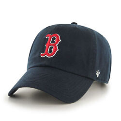 Boston Red Sox #x27;47 Brand Navy Blue Clean Up Adjustable Dad Hat
