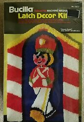 Palace Guard Deluxe Pile Bucilla Latch Hook Decor Kit Christmas Soldier Holiday