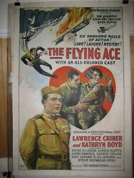 The Flying Ace 1926 Silent Aviation-all-colored Cast-ww Vg