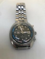 Stunning Rare Vintage 1970s Andlsquotriple Starandrsquo Orient King Diver Day-date Automatic