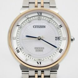 CITIZEN WATCH EXCEED CB3025-50W Eco-Drive Radio controlled Direct flight EUROS