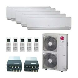 LG Wall Mounted 5-Zone System - 60000 BTU Outdoor - 7k + 7k + 12k + 12k + 24...