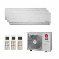 Lg Wall Mounted 3-zone Lgred Degrees Heat System - 30000 Btu Outdoor - 12k ...