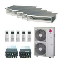 LG Concealed Duct 5-Zone LGRED° Heat System - 36000 BTU Outdoor - 9k + 9...