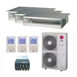 LG Concealed Duct 3-Zone LGRED° Heat System - 42000 BTU Outdoor - 9k + 1...