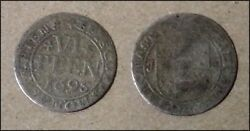 Roughly Size Of Dime 1695 German States Munster 6 Pfennig World Silver Coin Bino