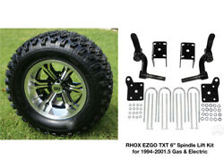 Ezgo Txt 6 Rhox Spindle Lift Kit+12 Wheels+23 At Tires 94-01 Gas And Electric