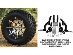 Club Car Ds 6 Rhox Spindle Lift Kit+ 12 Wheels And 23 At Tires Gas And Electric