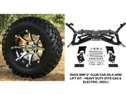 Club Car Ds 6 Rhox A-arm Lift Kit+ 12 Wheels And 23 At Tires Gas And Electric