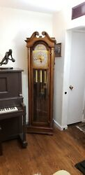 Vintage 1970's Colonial 5 Tube Tubular Bell Grandfather Clock