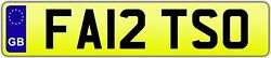 Fatty Private Number Plate Car Registration Fa12 Tso✔️big Man Thin Tall Large