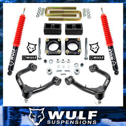 3 Front 2 Rear Lift Kit W/ Control Arms For 2007-2021 Toyota Tundra 4x4
