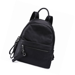 Soft Pebble Leather Backpack For Women Black Casual Shoulder Bags College Girls