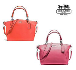 NWT COACH Small KELSEY Satchel Crossbody Leather Magenta Orange F36675 FREE SHP $150.00