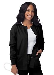 Sivvan Womenandrsquos Scrub Warm-up Jacket/front Snaps Round Neck Stylish And Comfort