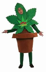 Marijuana Weed Plant Pot Leaf Keep Off The Grass Adult Mens Costume Party