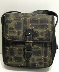 Esprit Leather Women Black green Body cross Bag $24.99