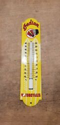 Sale Vintage Enamel Thermometer Indian Motorcycles