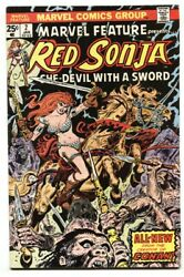 Marvel Feature 2 Comic Book Red Sonja 1976-marvel Fn+