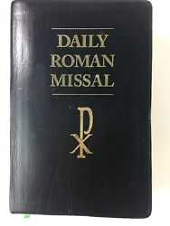Daily Roman Missal Large Print By James Socias - Leather 2004, 6th Edition