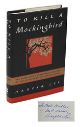 To Kill A Mockingbird Signed By Harper Lee 35th Anniversary Edition 1995