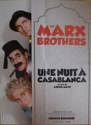A Night In Casablanca - Marx Brothers - Reissue French Movie Poster
