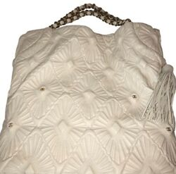 CHANEL New White Caviar Quilted Leather Grand Shopping Tote $2998.00