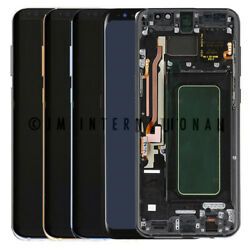 Samsung Galaxy S8 G950   S8 Plus G955 Lcd Touch Screen Digitizer Frame Assembly