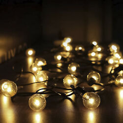 G40 Globe String Lights 25Ft 50Ft 100Ft Clear Bulbs Patio Hanging Party Fairy