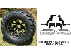 Ezgo Txt Rhox 6 Spindle Lift Kit 2008.5+ + 12 Wheels And 22 Mud Crawler Tires