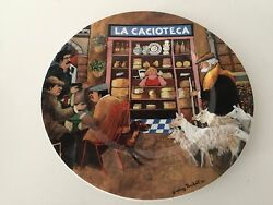 Guy Buffet Tuscan Storefronts La Cacioteca Germany Dinner Plate, 10 7/8 Dia
