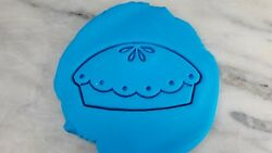 Pie Cookie Cutter 2-piece, Outline And Stamp 1 Blueberry Pumpkin Thanksgiving
