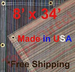 8and039 X 34and039 Vinyl Coated Mesh Tarp 10 Oz Dump Truck Fence Cover Landscape Trailer
